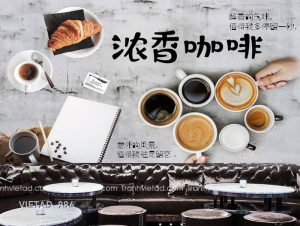 Tranh Dán Tường Coffee VIETAD-986
