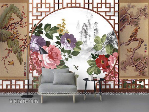 Tranh Dán Tường Hoa VIETAD-1009
