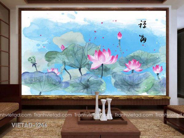 Tranh Dán Tường Hoa Sen VIETAD-1246