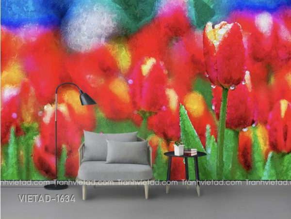 Tranh Dán Tường Hoa Tulip VIETAD-1634