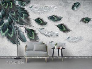 Tranh Dán Tường Lông Vũ VIETAD-1024