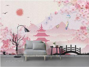 Tranh Dán Tường Phong Cảnh VIETAD-1598