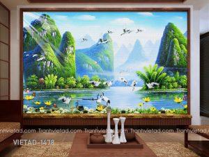 Tranh Dán Tường Sơn Thủy VIETAD-1478