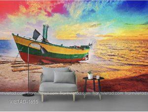 Tranh Dán Tường Thuyền Biển VIETAD-1655