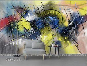 Tranh dán tường trừu tượng VIETAD-784